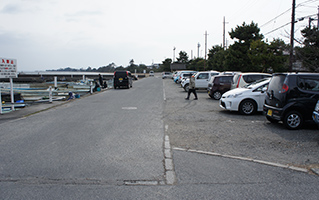 Parking lot is near the fishing port