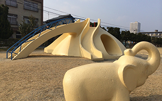 Elephant playground equipment